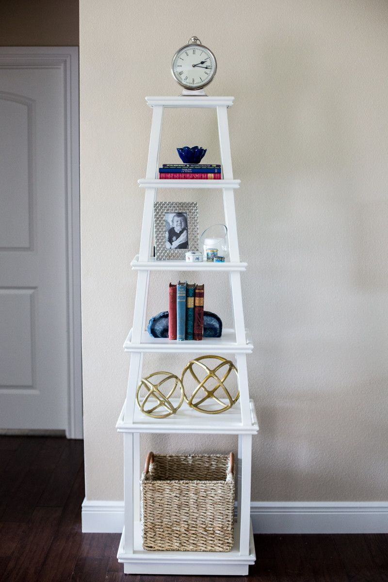 Bookshelf Styling Of A Tower Simple And Understated