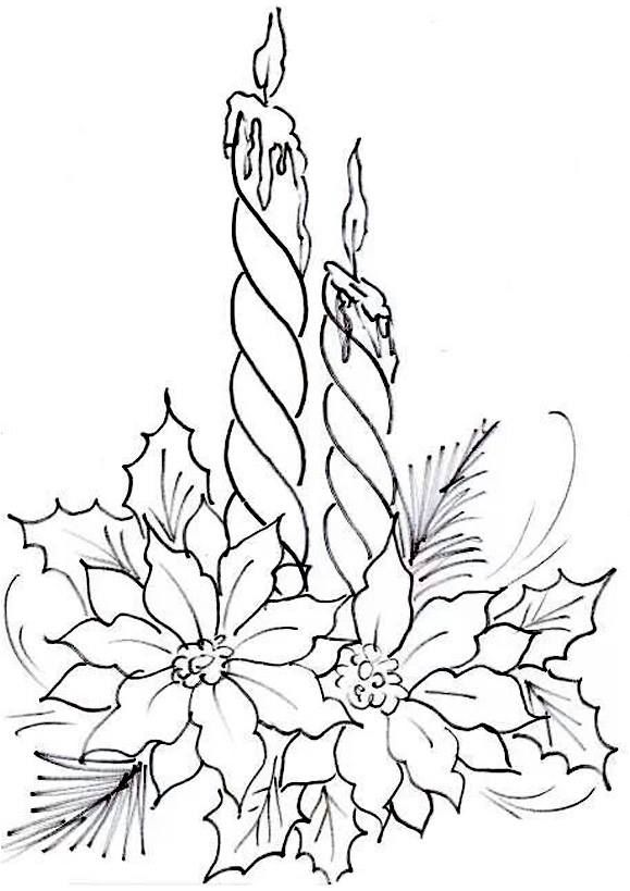 Pin By Gloria Triebel On Candles Christmas Coloring Pages