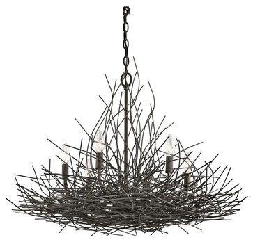 Kichler organique 42888oz 6 light olde bronze twigs chandelier kichler organique 42888oz 6 light olde bronze twigs chandelier mozeypictures Images