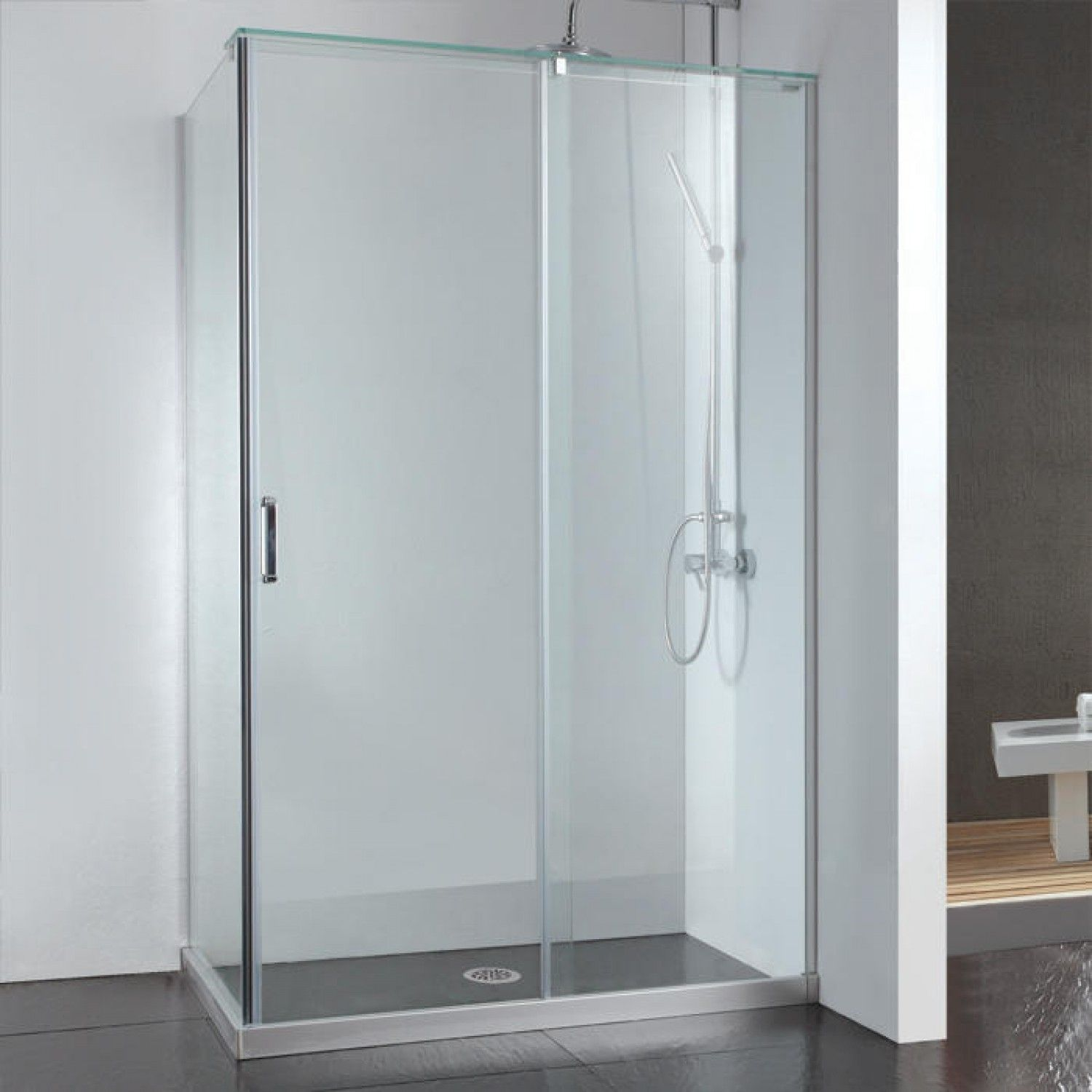 Corner Sliding Glass Shower Doors