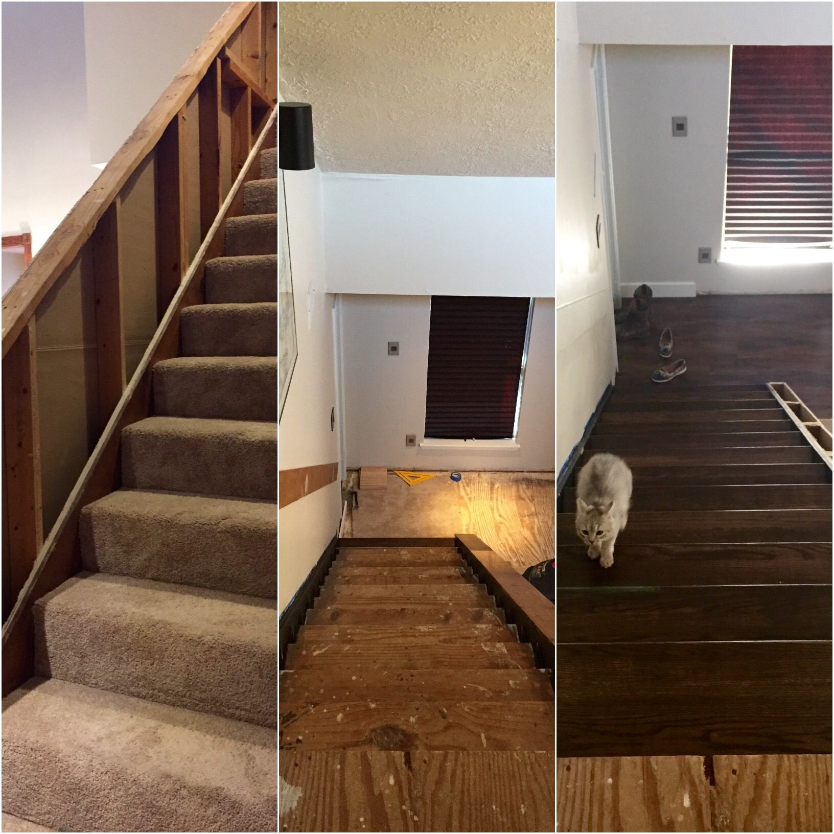 Before And Midways. Stair Remodel.