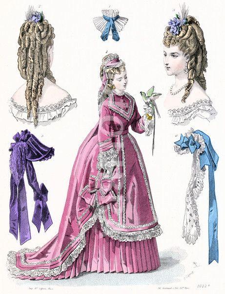 French Ladies Fashions 1870.