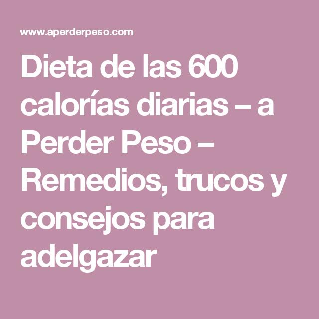 Dieta de 600 calorias menu semanal