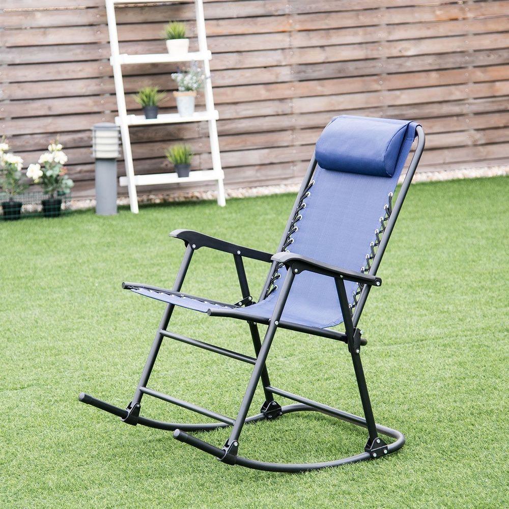 Garden Patio Foldable N Comfortable Rocking Chair Rocker