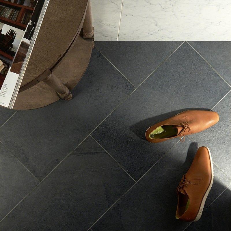 Fordham Nero 12x24 Matte Porcelain Tile Porcelain Tile Porcelain Floor Tiles Mudroom Flooring