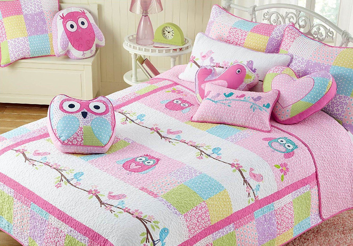 Cozy line christmas gifts for kids pink owl 3piece