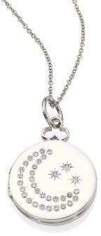 Devon Woodhill 18K White Gold & Diamond Moon & Stars Locket