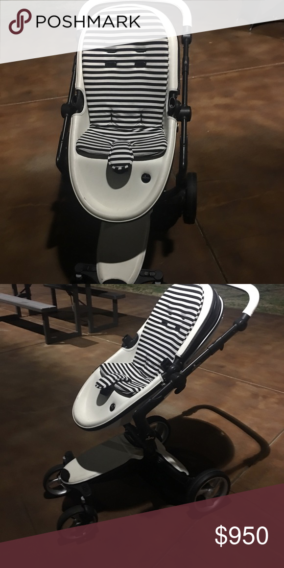 Mima xari luxurious stroller in white leather (With images