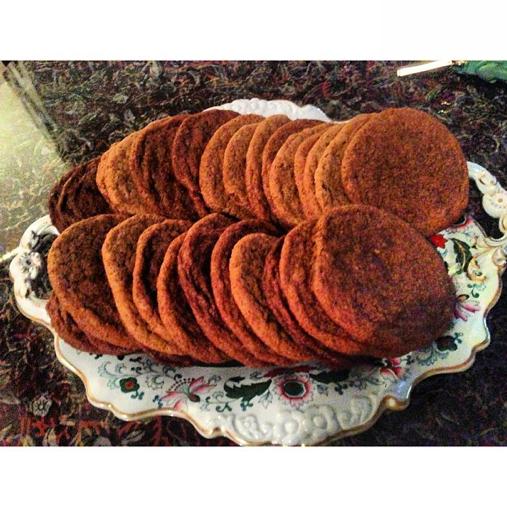 Yummy #Homemade chewy Meyer lemon,vanilla bean molasses #Cookies . I will bring to studio tomorrow! #zacposen #baking #cookingwithzac