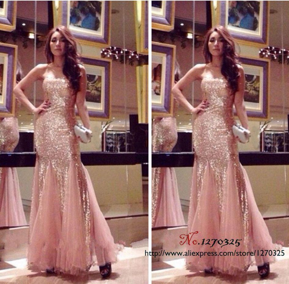 Vestido dama de honra adulto sexy sweetheart rose gold sequin