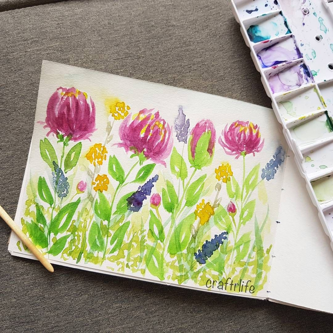 Pin On Watercolor رسم ألوان مائية