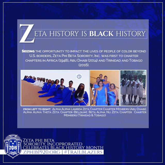 Blackhistory Zphib1920 Trailblazers Zeta Phi Beta Sorority And Fraternity Greek Sorority