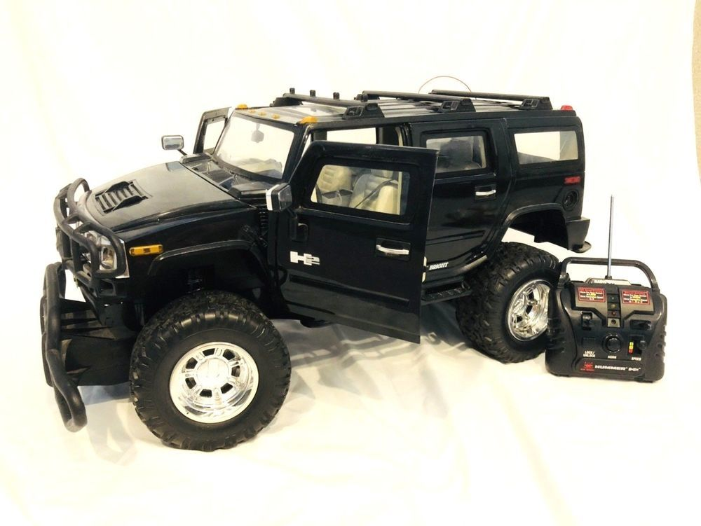 New Bright Hummer H2 1 6 Scale Remote Control R C Truck Black Toy Truck Working Newbright Motorcycle Model Kits Hobby Rc Cars Trucks