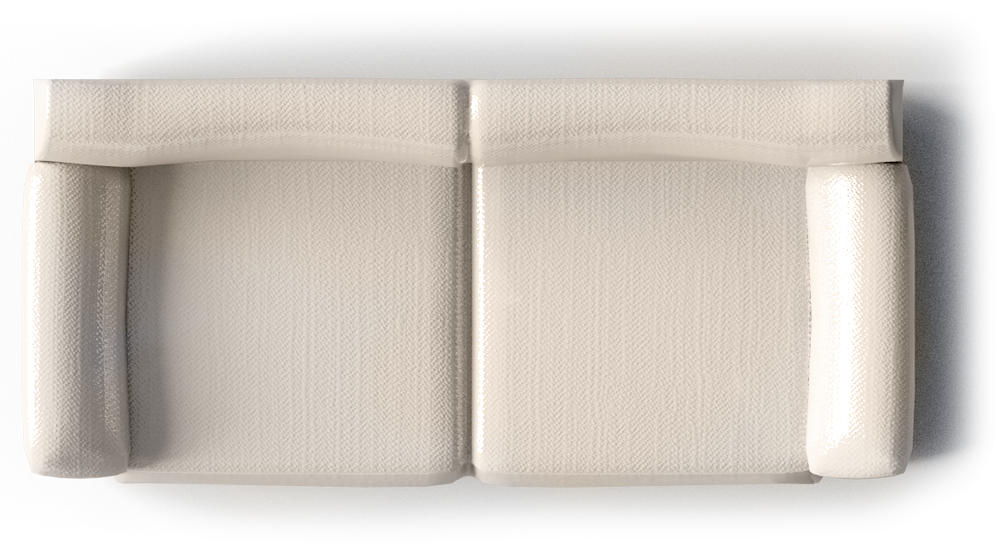 Vreta 3 Seat Sofa Mjuk Ivory Top Top View Furnitures