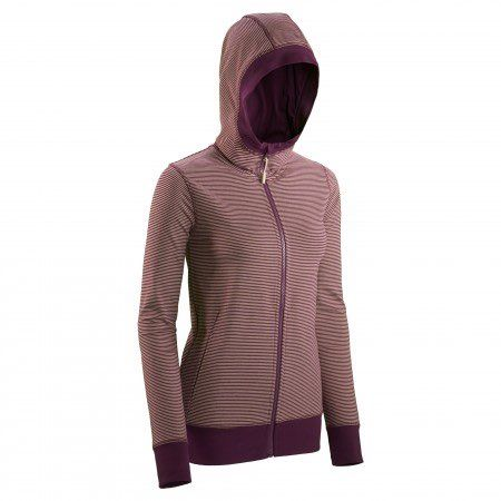 Women's hooded full-front zip jacket. Ideal for travel. Relaxed Fit