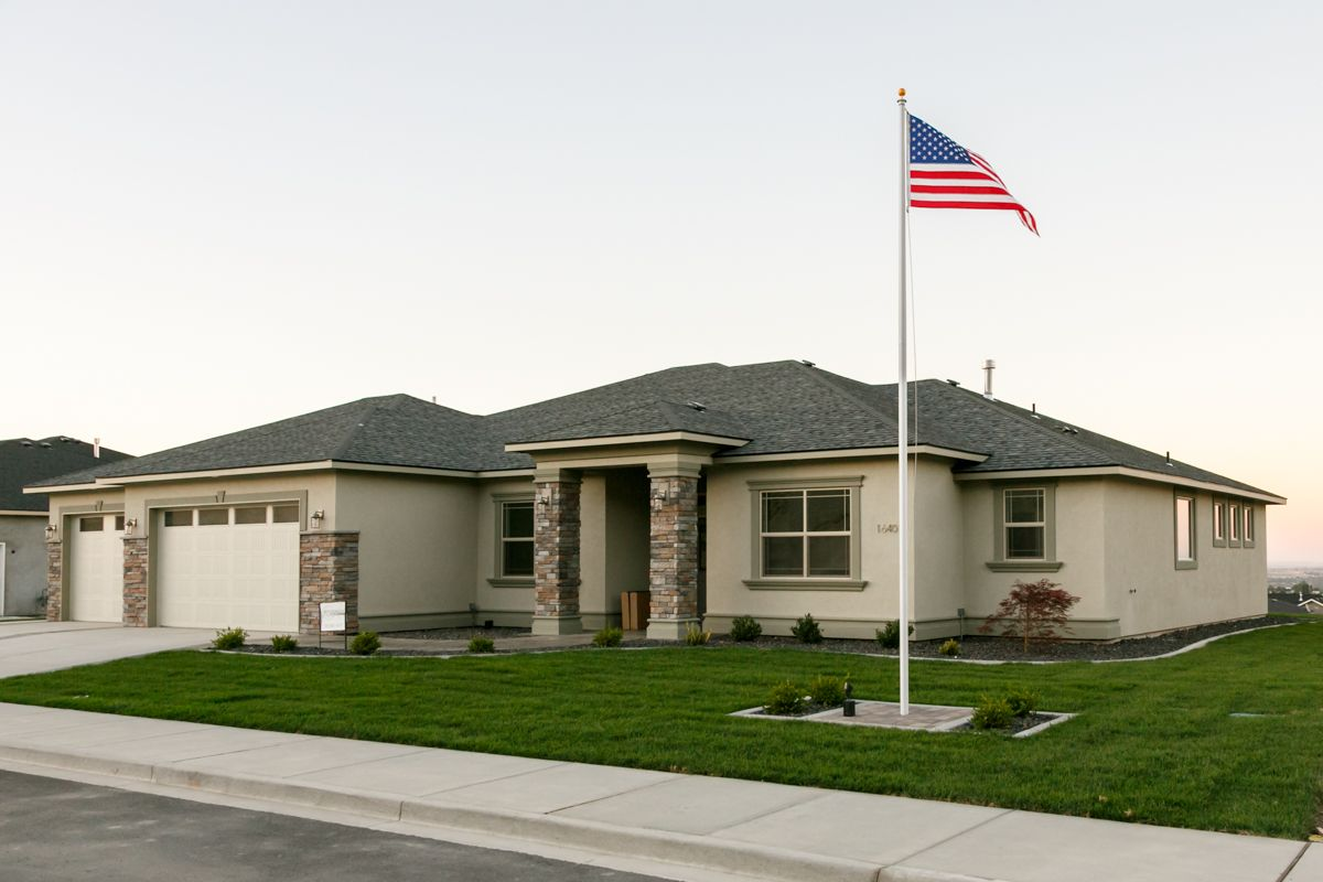 Encore Prodigy Homes Inc Flag Pole Landscaping Outdoor Renovation Barn Style House