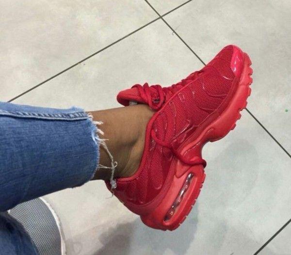 All Rouge Nike Air Max Plus Tn fashion Baskets Pinterest