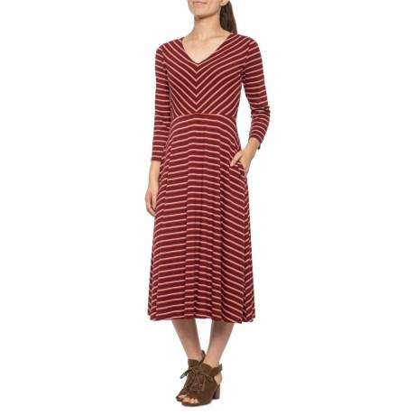 Rachel Zoe Chevron Bodice Midi Dress (For Women) - Save 25%
