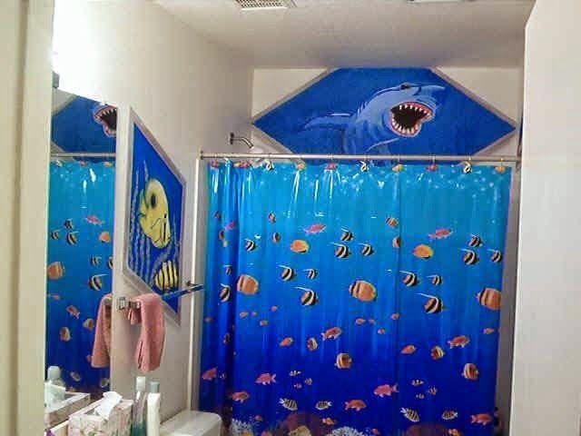 Curtain Ideas: Ocean themed shower curtains | Bathroom curtains ...