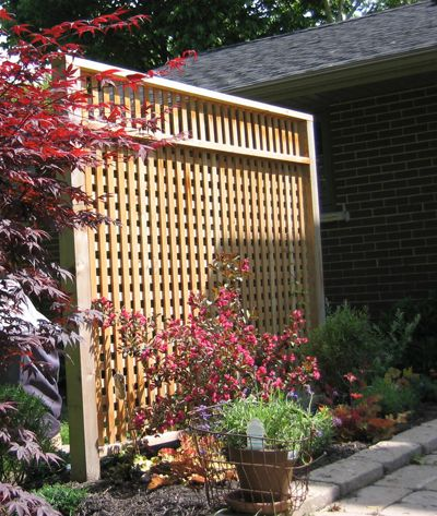 Patio privacy screen using recycled cedar posts readers for Creating privacy on patio