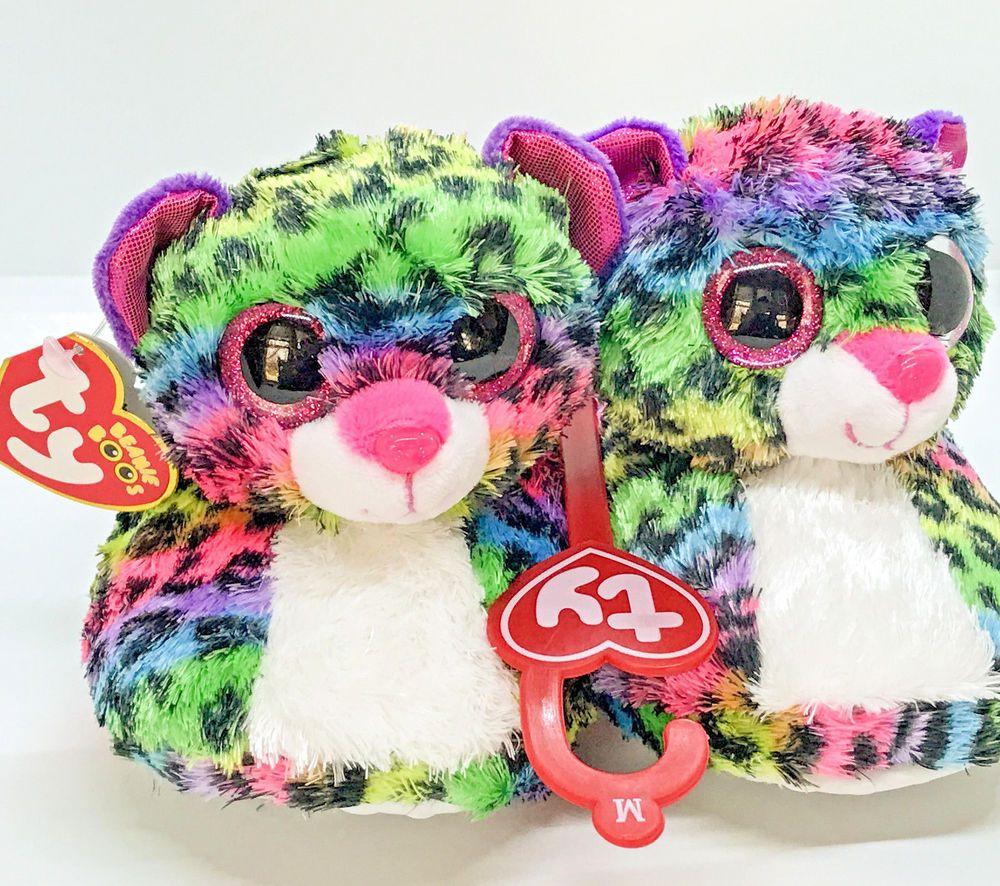09264228741 TY BEANIE BOOS Slippers Big Head Dotty Leopard Child s Size Medium (2 3)  Ty   Slippers