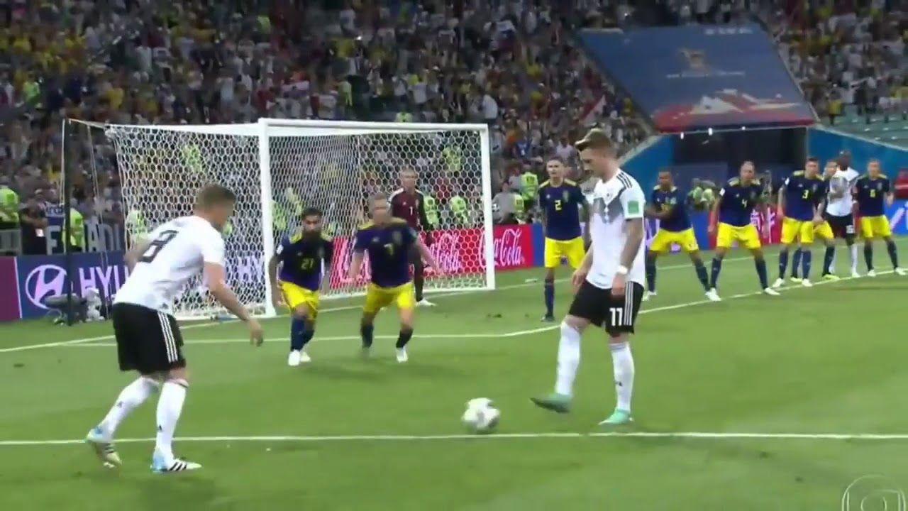 Toni Kroos Goal Sweden Vs Germany 1 2 World Cup 2018