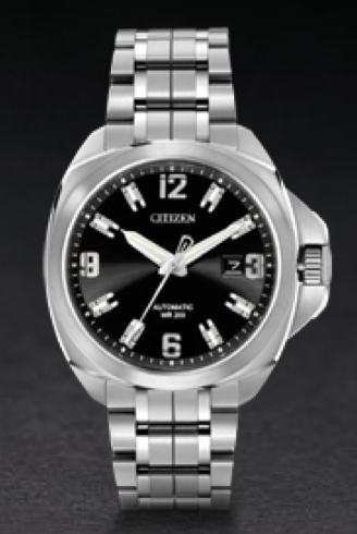 Citizen Signature watch, automatic movement.  For the serious watch guy. See our collection at www.stevendifranco.com