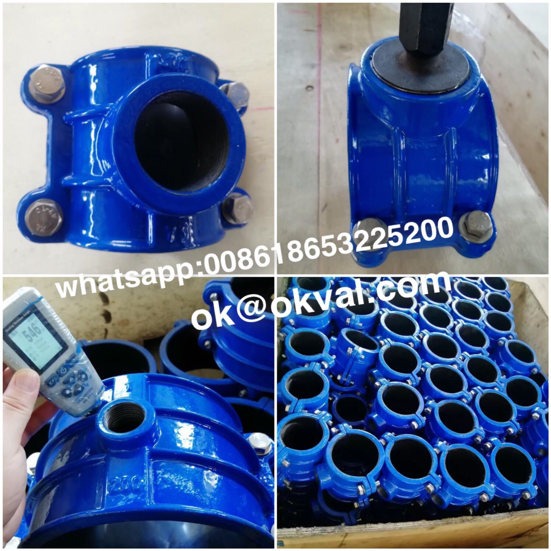 Saddle Clamp ,Tapping Saddle For PE PVC Pipe Ductile iron Dn40-Dn315