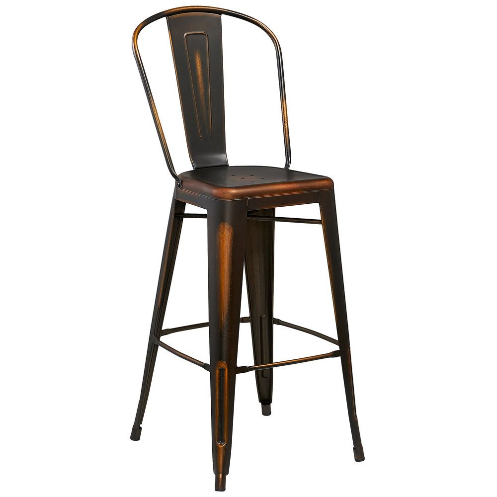 Flash Furniture Et 3534 30 Cop Gg Distressed Copper Metal Bar