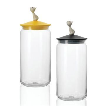 Alessi Mio Cat Jar - Style # AMMI22, Modern and contemporary pet's accessories at SWITCHmodern.com