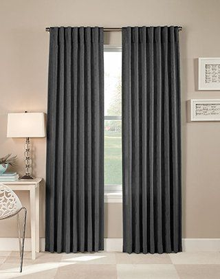 Saturn Modern Pleated Curtain Panel By Curtainworks 22 99 Panel Can Be Hung Two Ways Either With The Six Inch Back Tabs Or With Clip Rings Panel Is Sold In