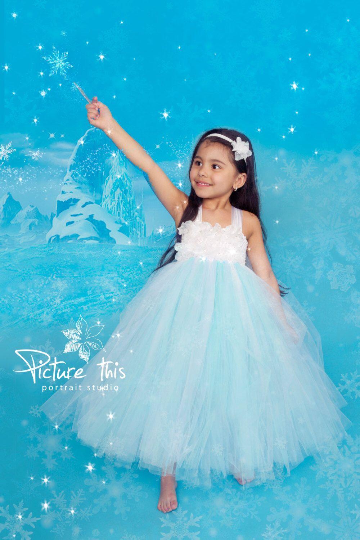 Frozen tutu dress, Frozen party dress, Elsa dress, Turquoise tutu ...
