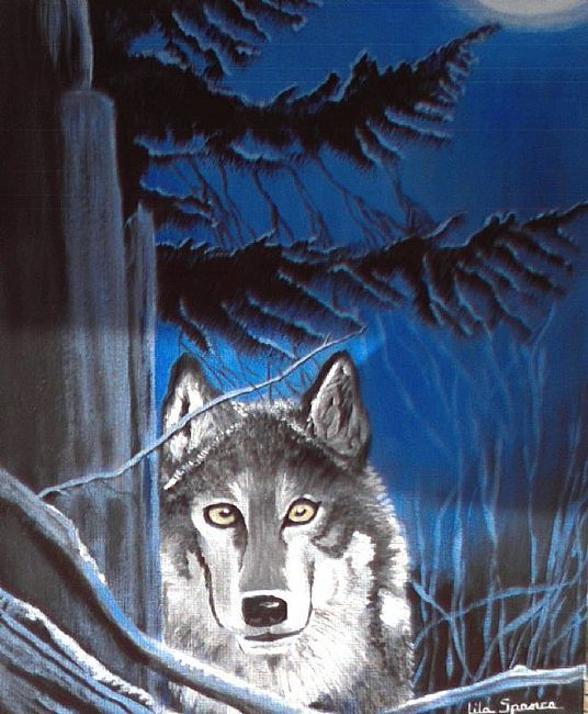 Easy Acrylic Painting On Canvas Wolves Southwest Wolf