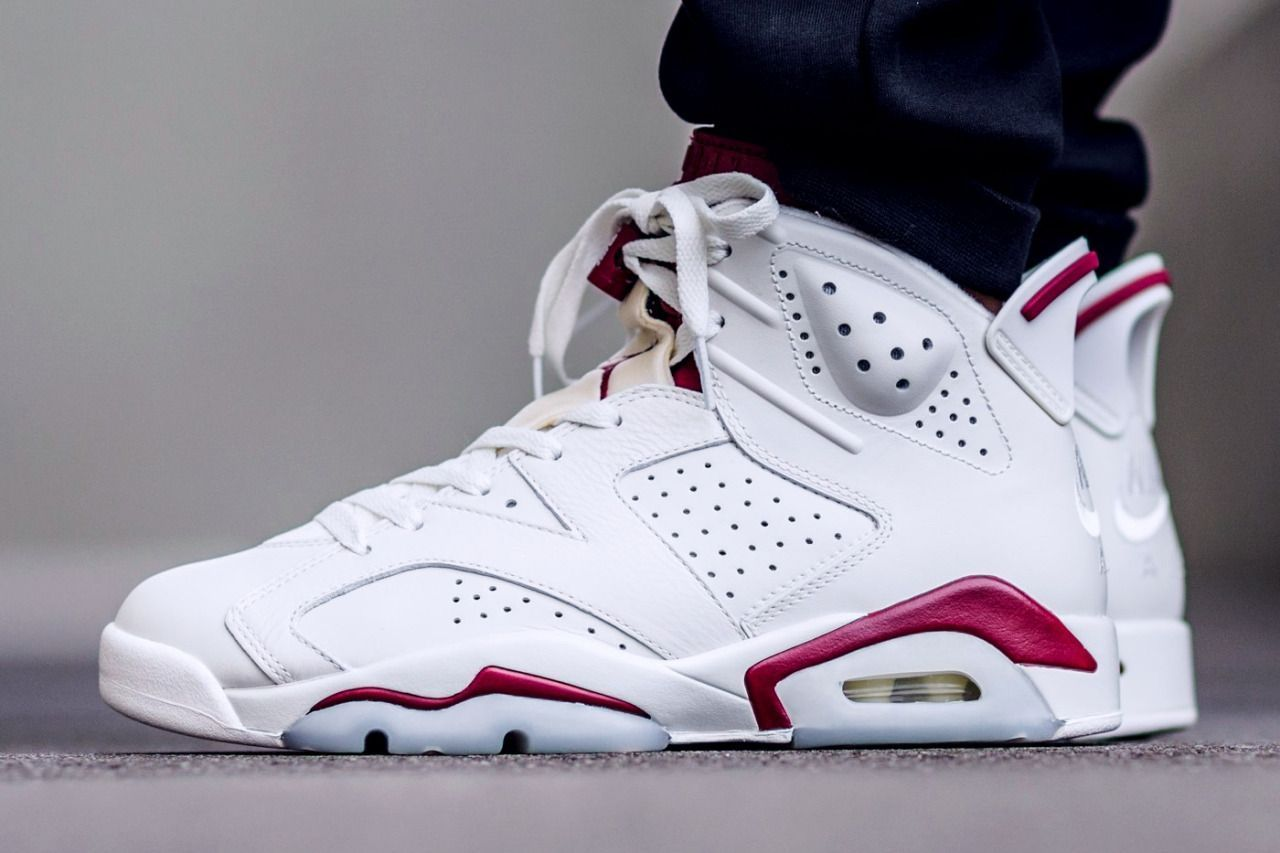 outlet store 3a43f e66f1 Air Jordan 6 Retro  Off White   New Maroon  (via Kicks-daily.com)