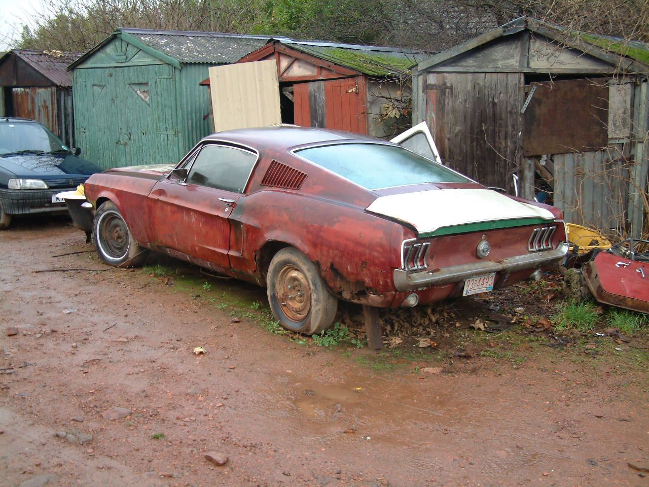 39 68 mustang f b rusted americana mustang cars rusty. Black Bedroom Furniture Sets. Home Design Ideas