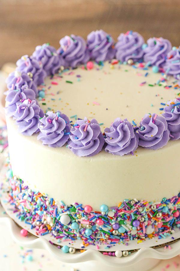 The Best Vanilla Layer Cake With Vanilla Frosting Easy Recipe Recipe Vanilla Cake Recipe Moist Vanilla Layer Cake Recipe Fluffy Vanilla Cake Recipe