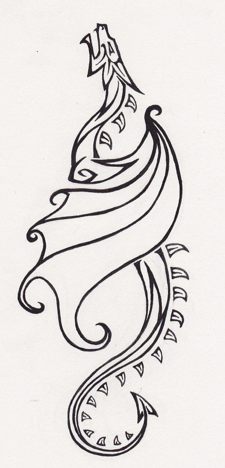 I feel drawn to this. Not sure why -   21 dragon tattoo sketch ideas