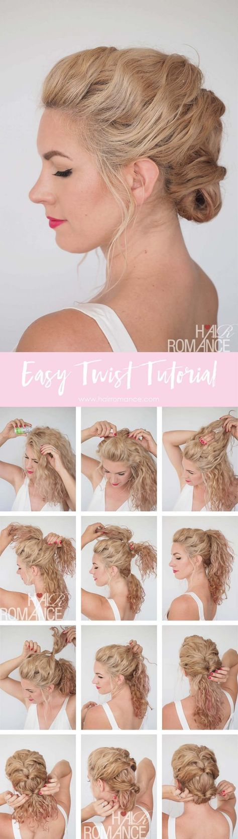 Quick and easy twist hairstyle tutorial u get great hair fast hair