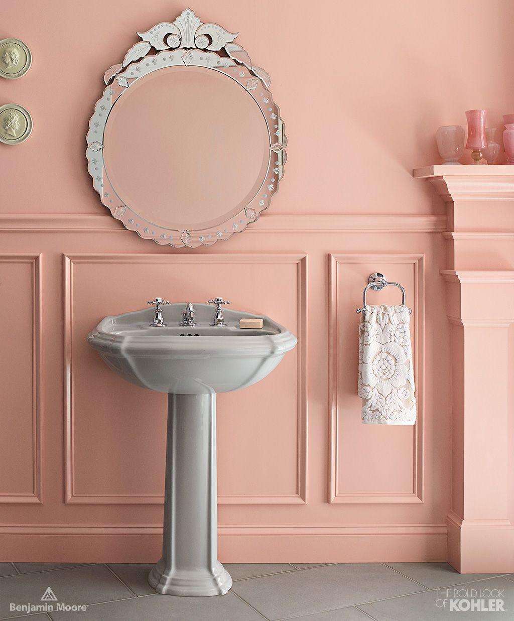 Home Ideas From KOHLER   Southern Charm Bathroom   Wall Color: Fruit Shake  Aura Bath