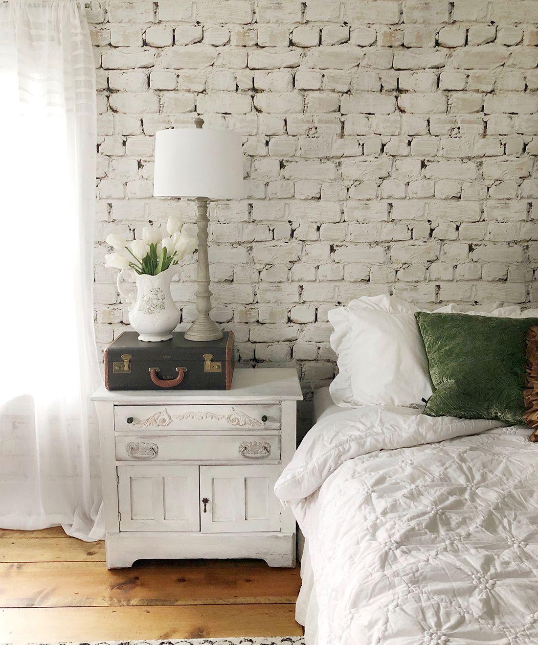 Whitewash Bricks Wallpaper White Rustic Brick Wallpaper Milton King Brick Wall Bedroom White Wash Brick Brick Wallpaper