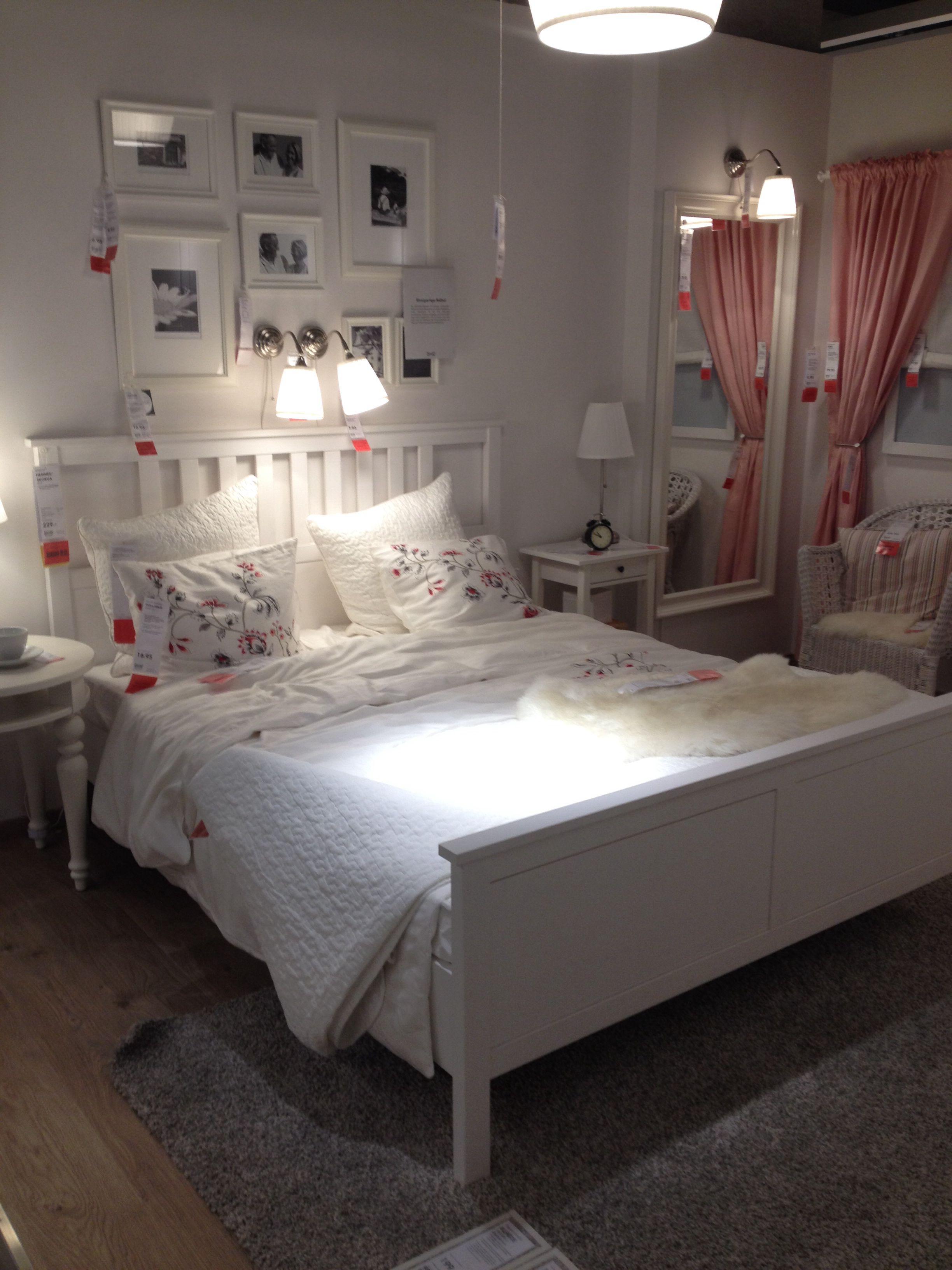 White Ikea hemnes bed  Next project     Ikea bedroom Ikea bedroom design und Ikea