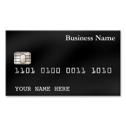 Credit Card Style Business Card 2 Sided Black Zazzle Com Credit Card Design Credit Card Custom Business Cards