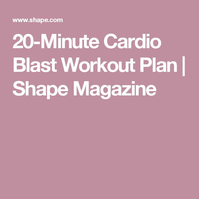 This 20-Minute Cardio Blast Makes the Treadmill Obsolete