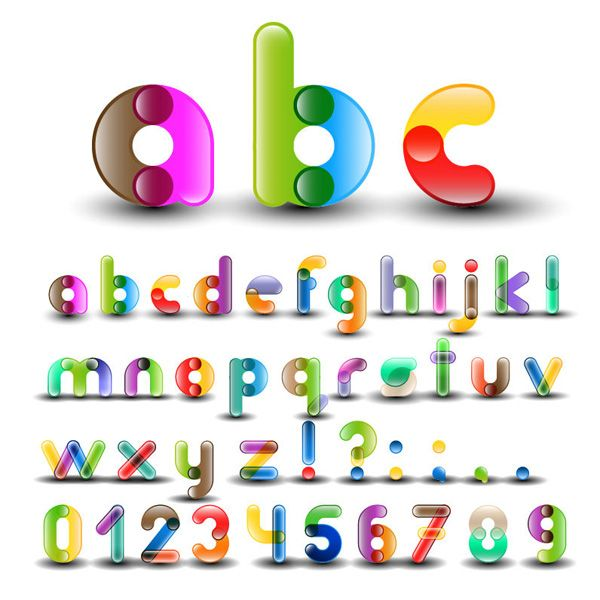 Download XOO Plate :: Color connect Alphabet Font Vector Set ...