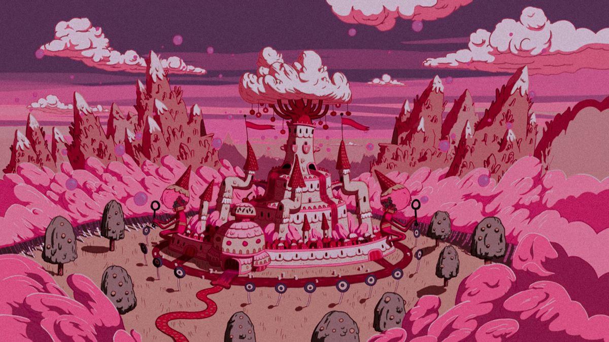 Anime pink wallpaper gif