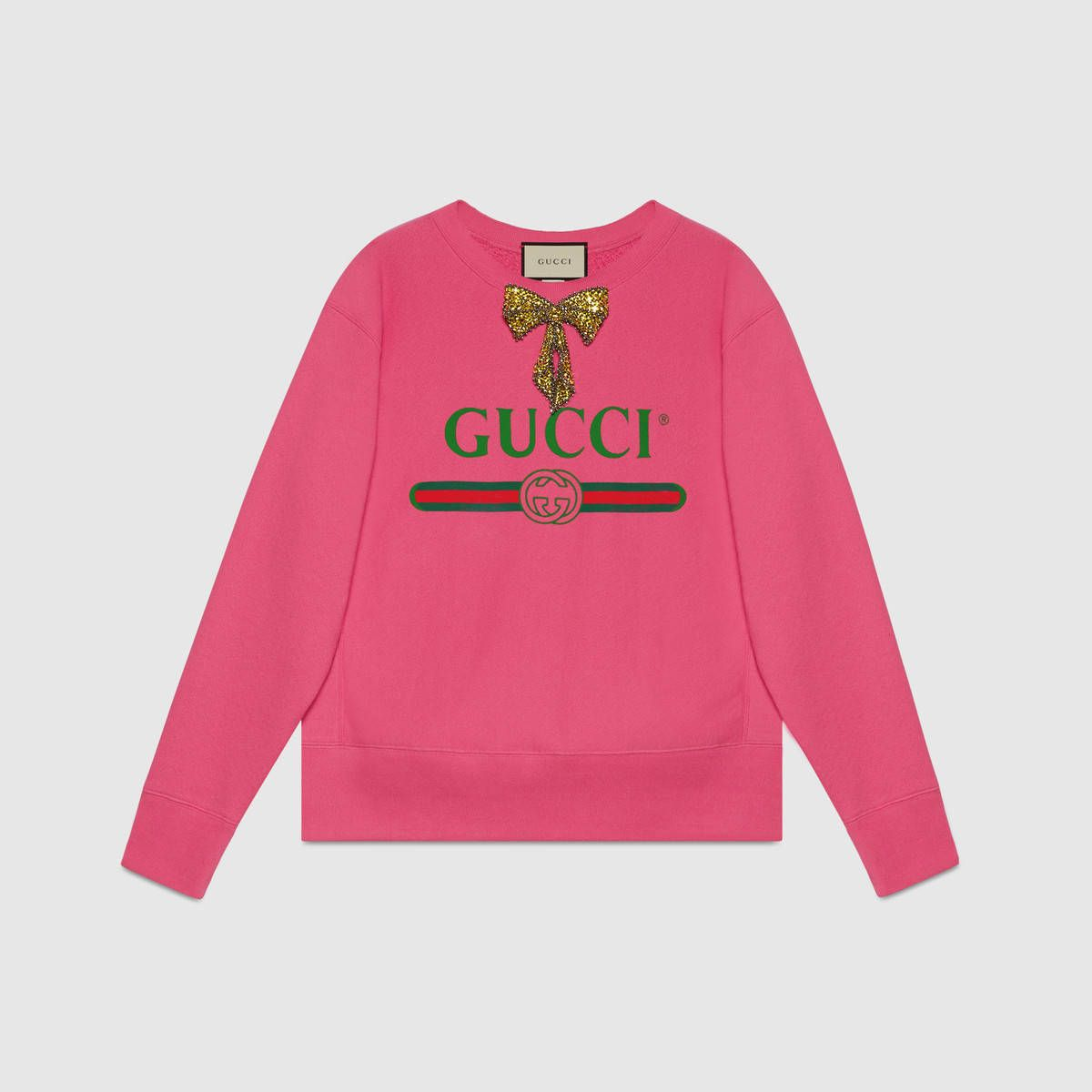 250be2929db Gucci logo sweatshirt with bow
