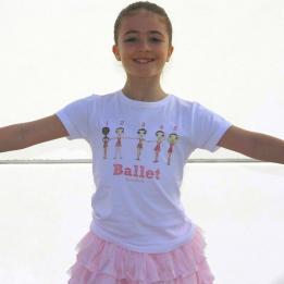 ballet positions t-shirt | Ballet Papier by Berenice Bercelli