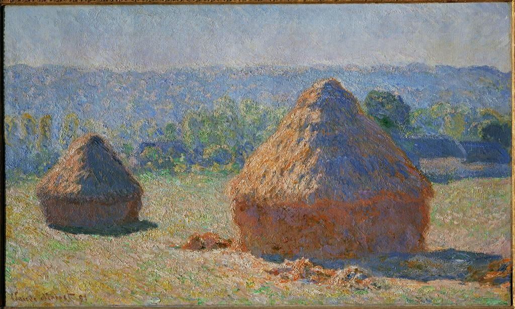 The Haystacks, End of Summer, Giverny by Claude