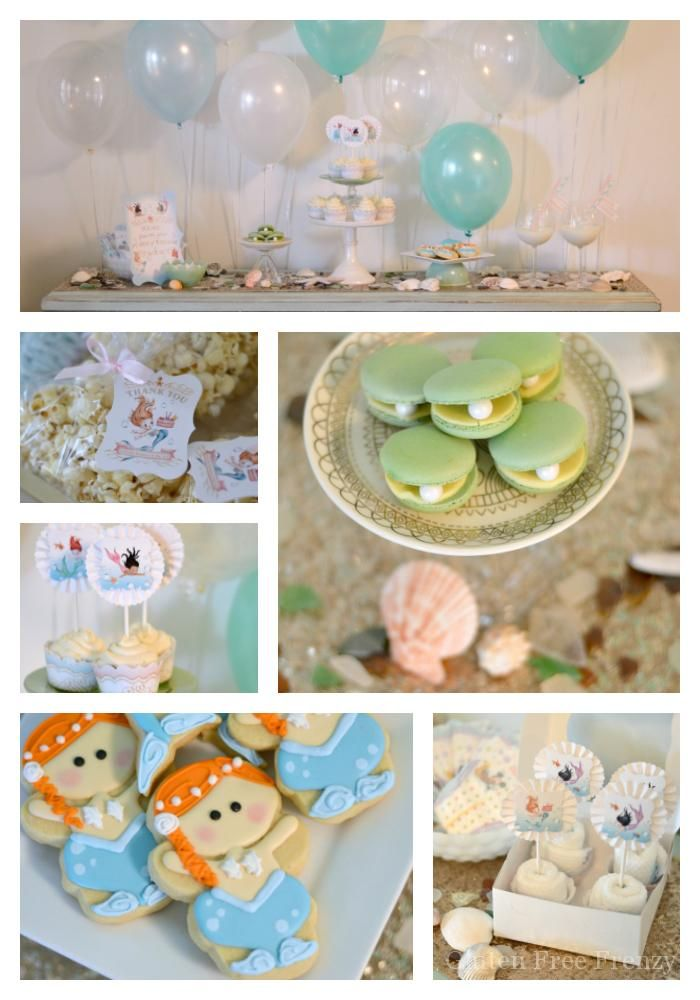 This Mermaid Themed Baby Shower Couldnu0027t Be Cuter! So Great For Little Girls