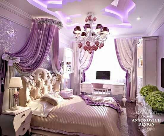Raised Bedroom Ceiling Bedrooms For Girls Pink Bedroom Interior Design Pink Bedrooms For Girls Purple: Pin By Rabia Gergin On Ev Tasarımı